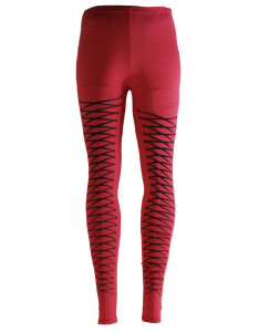 Rhombus Red Leggings sale at US$5.99