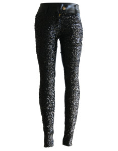 Sequin Two-side Leather Sexy Clubwear Leggings is sold at US$ 7.99
