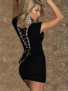 Deep V-Neck Back Bandage Clubwear sale at 4.95 dallars.