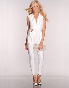This jumpsuit will take you easily from day to night.