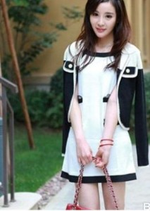 Wholesale Mini Dresses,black and white style is typical.