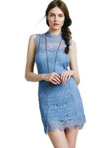 Blue-Women-Backless-Sleeveless-Lace-Dress-WT33129B-1
