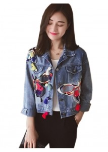 Ladies-Short-Jean-Patch-Jacket-WT40051--1